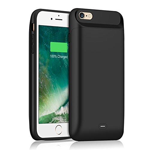 3abb2ee6d7c ... iPhone 6 6S 4.7inch -Black. Charging: press the on/off button backside  for 3 seconds to turn the battery case ON or OFF More than 200% extra  power--this ...