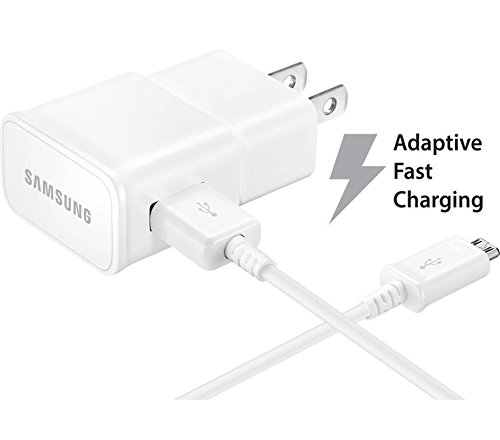 Bulk Packaging - T-Mobile Samsung Galaxy J7 Adaptive Fast Charger Micro USB 2.0 Cable Kit! 1 Wall Charger + 5 FT Micro USB Cable AFC uses dual voltages for ...