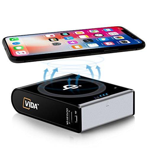 Qi Wireless Portable Charger, Hokonui 10000mAh Fast Charging