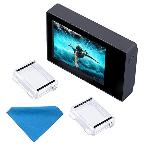Can also real-time watch your photos and videospacking list: 1x suptig LCD Screen2xBacPac Backdoors1xMicrofiber Cleaning ClothNote:LCD screen without touch ...