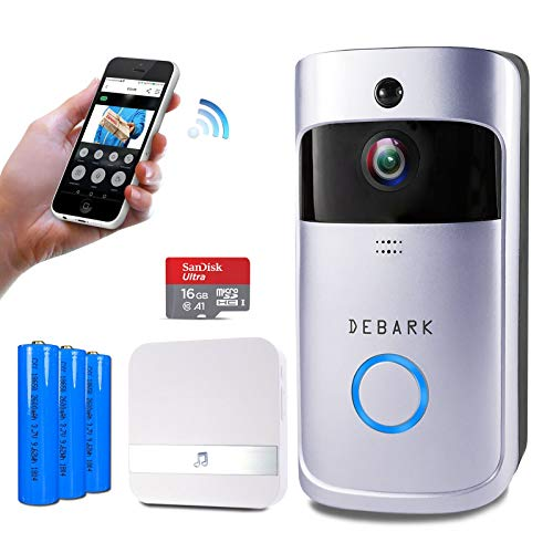 caf2420298f Debark Smart Video Doorbell Wireless Home WiFi Security Camera with Indoor  Chime
